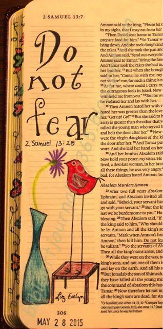 Easy Bible Art Journaling Journey: 2 Samuel 13:28 (May 28th)