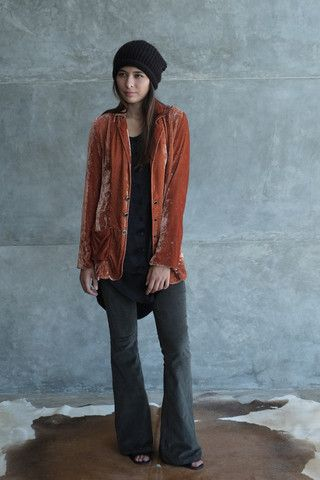 Silk Velvet Blazer Clay