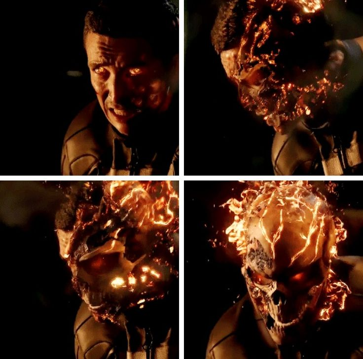 Marvel's Agents of S.H.I.E.L.D. Season 4, episode 1: The Ghost  Robbie Reyes turning into Ghost Rider