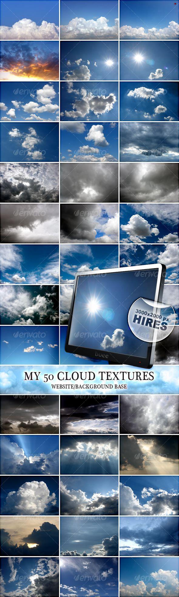 My 50 Cloud Textures
