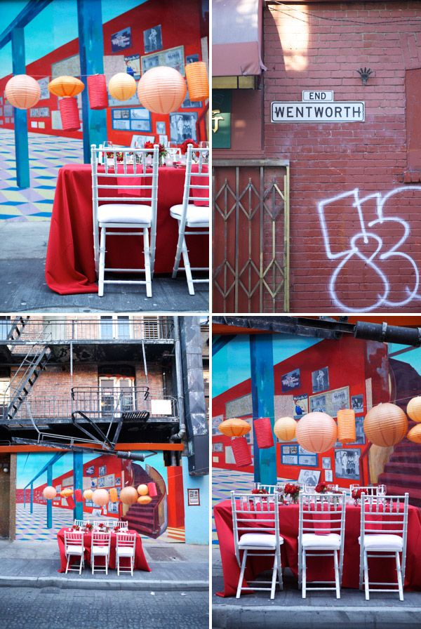 love this idea of a pop up dinner party in random places!