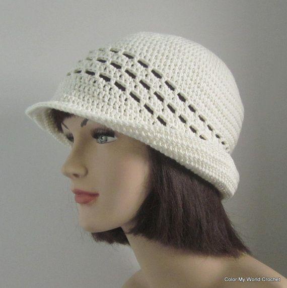 Summer Cloche  Womens Crochet Hat  Flapper Hat  by patcreates