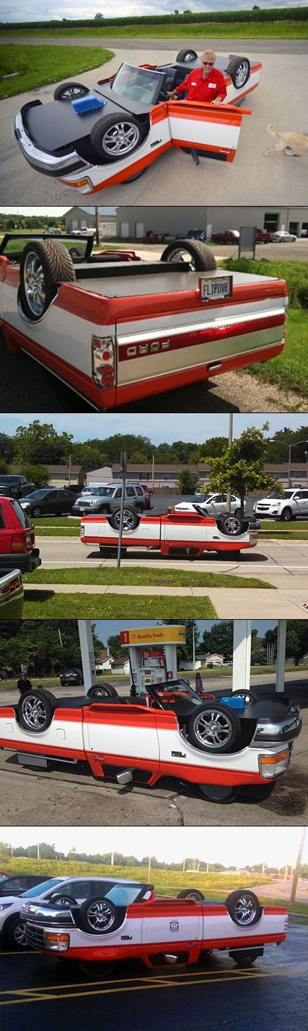 Your Eyes Aren't Playing Tricks, These 5 Images Show a Functional Upside Down Truck - TechEBlog