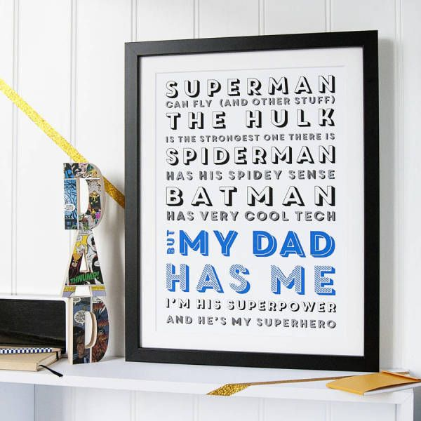 My Superhero Dad Print