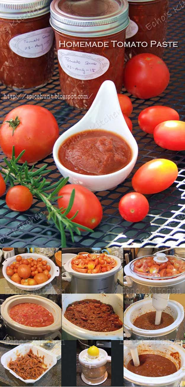 DIY Healthy Tomato Paste | Homesteading Recipes and Food Preservation Ideas by Pioneer Settler at http://pioneersettler.com/26-canning-ideas-recipes/