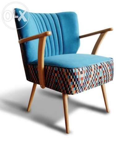 Fotel klubowy, lata 60,70, PRL, design, loft, art deco, po renowacji Poznań - image 1