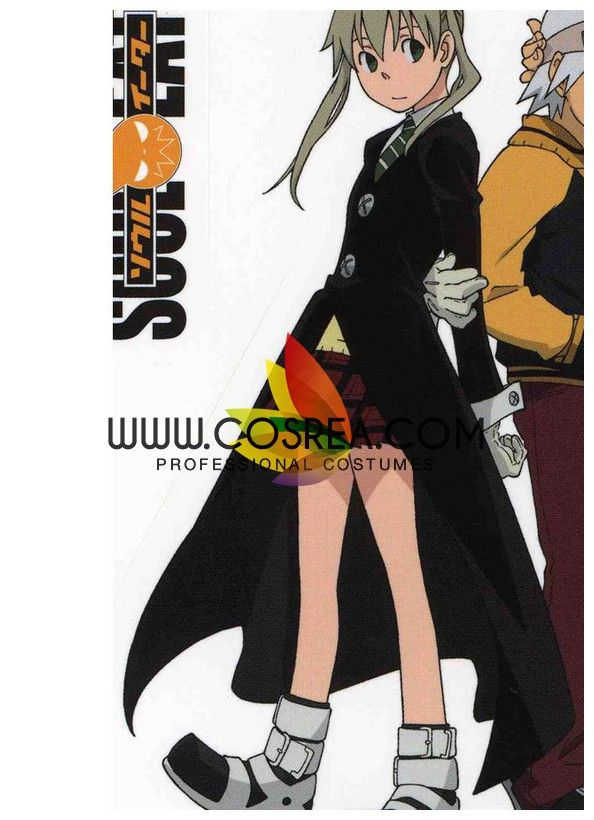Costume Detail Soul Eater Maka Albarn Cosplay Costume Set Includes: Inner Top, Vest, Coat, Skirt, Tie, Gloves Please see individual tabs for information including: -available sizes for this costume -a