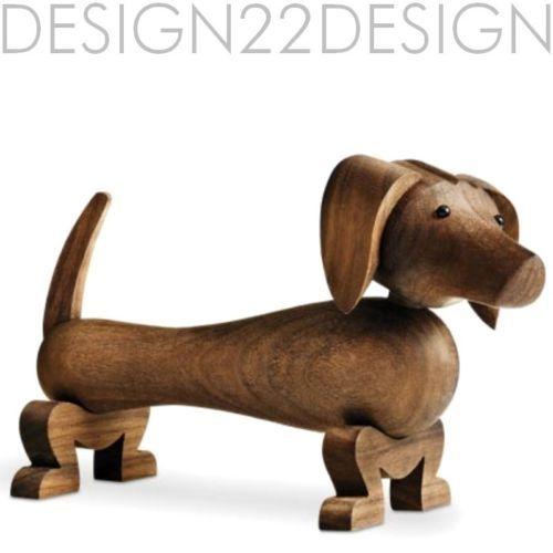 ROSENDAHL KAY BOJESEN HUND, Figur aus Holz, NEU,OVP