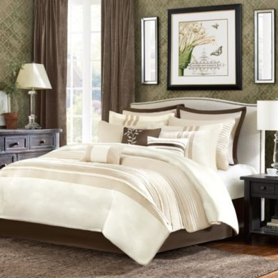Buy Sellick 12 Piece Comforter Super Set In Tan From Bed