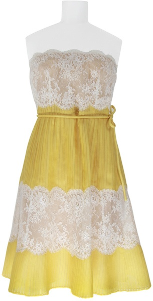 Valentino Silk Lace Pleated Dress.    Worn by Emily VanCamp on Revenge. Love.: