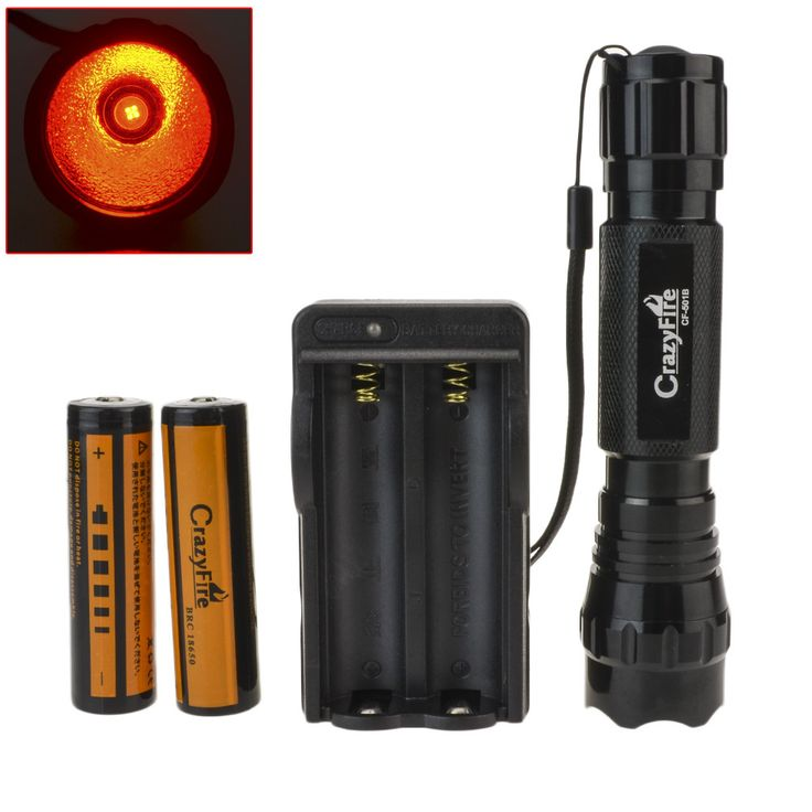 Crazyfire WF-501B cree-xml Q5 5/1 - режим из светодиодов тактический фонарь факел дробовик лампы водонепроницаемый + 1 х 18650 + зарядное устройство красный свет