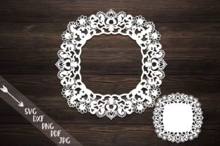 Doily svg laser cut file, lace svg cutting, paper cut template