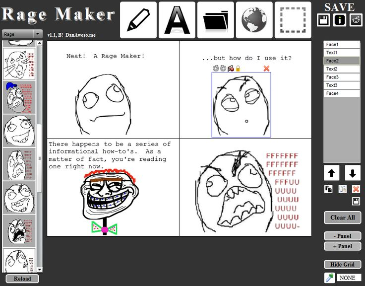 Dan Awesome's Rage Maker - I'm linking to the how-to page here - it's a comic-y kind of thing, and it's not universally useful, but can be the perfect fit for some assignments and kids.