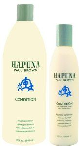 Paul Brown Hawaii Hapuna Conditioner, 10 Ounce by Paul Brown Hawaii. Save 47 Off!. $13.26. Free of sodium chloride, sulfates and parabens. Contains silk protein which prevents hair from alkaline material damage. Formulated with kukui nut. Made with all natural ingredients. No animal testing and environmental friendly formulation and packaging. A luxurious balancing conditioner that softens and protects hair from environmental pollutants that can cause damage over time.  Natural botanica...