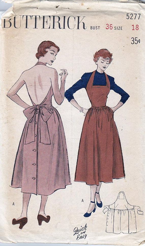 1940s Vintage Sewing Pattern Stunning Halter Dress with tie back Size 18 Bust 36