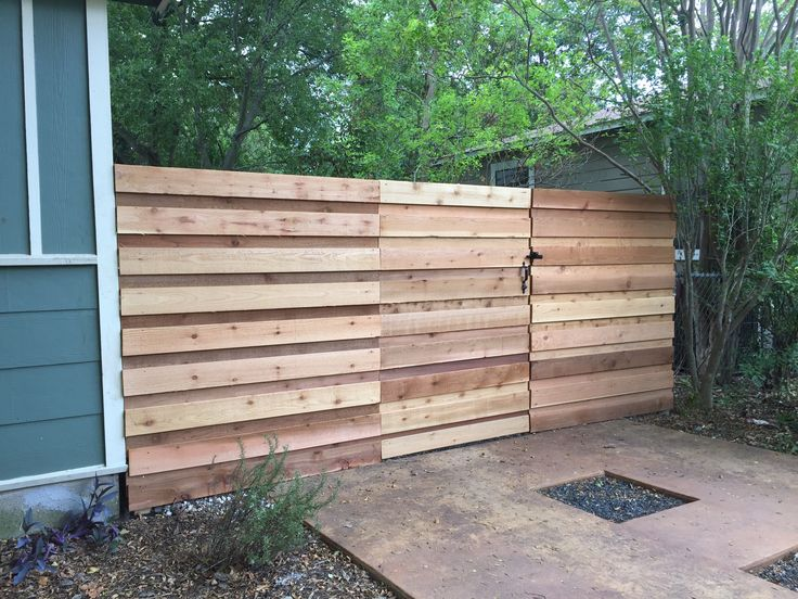 20 best Horizontal Wood Fences images on