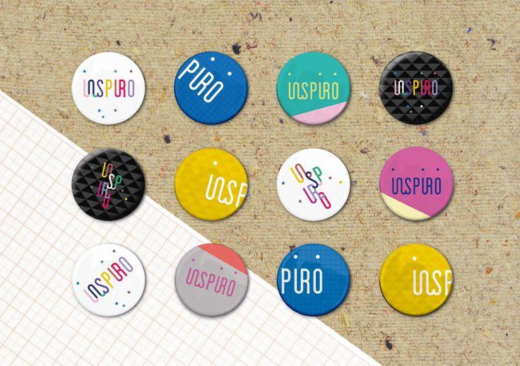 Dom Kultury INSPIRO - identyfikacja wizualna   piny