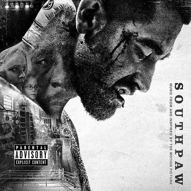 Southpaw. Левша. Спортивная драма Антуана Фукуа. Физическая подготовка Джилленхола достойна отдельной похвалы. Не только про бокс. Хорошее эмоционально-мотивационное кино в духе Восьмой мили. Продюсер саундтрека Eminem. На фото ковер альбома.  #левша #southpaw #movie #soundtrack #mhardypro