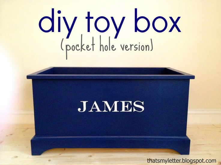 Build this super easy and fast toy box that holds a ton of kid stuff