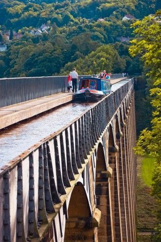 Wales Travel Inspiration - Narrowboating on the Llangollen Canal -  Llangollen lies near the western extreme of one of the most beautiful and popular canal journeys in Wales; some would argue it's the best in Britain.