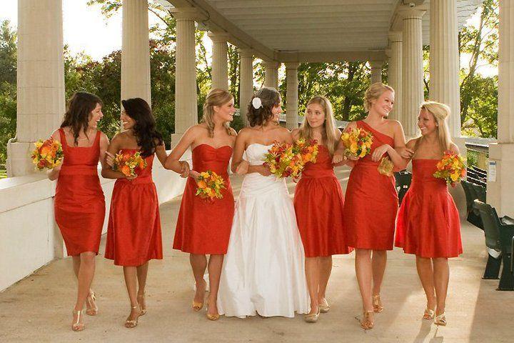 i love the bridesmaids dress color