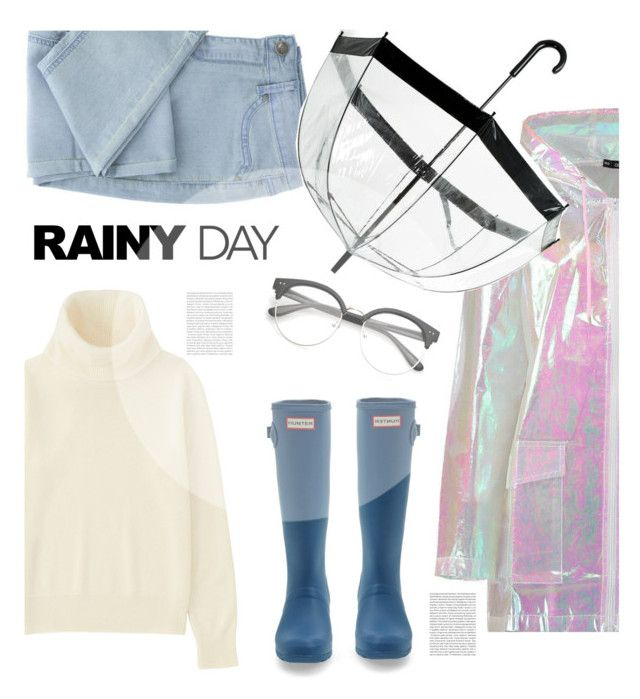 """Rainy Day"" by soranamikaze ❤ liked on Polyvore featuring Boohoo, Saks Fifth Avenue, Uniqlo, Oris, rainyday, contestentry, polyvorecontest, polyvorefashion and polyvoreset"