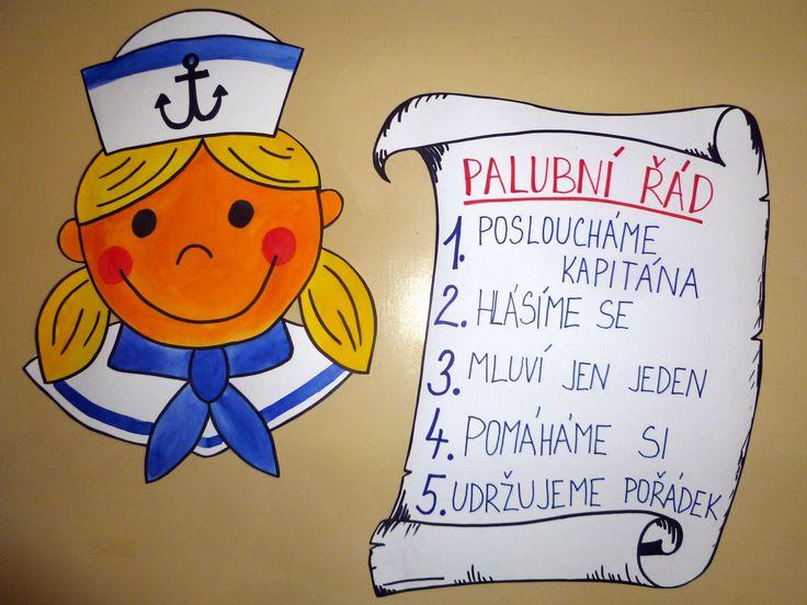 Námořnická 1.B - pravidla třídy - palubní řád