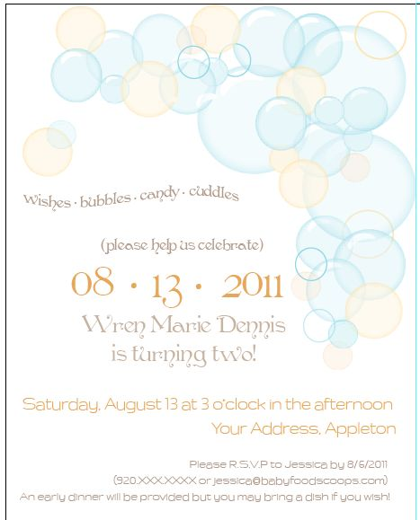 83 best Bubble Birthday Party images on Pinterest Bubble party - birthday invitation wording for movie party