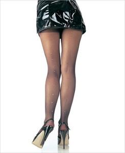 Queen Pantyhose With Rhinestone Backseam 9909Q Leg Avenue PLUS SIZE