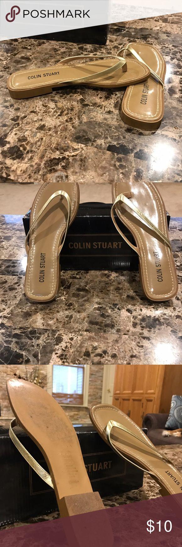 Colin Stuart Gold Thong Sandals size 8 EUC worn one time very pretty Colin Stuart Shoes Sandals