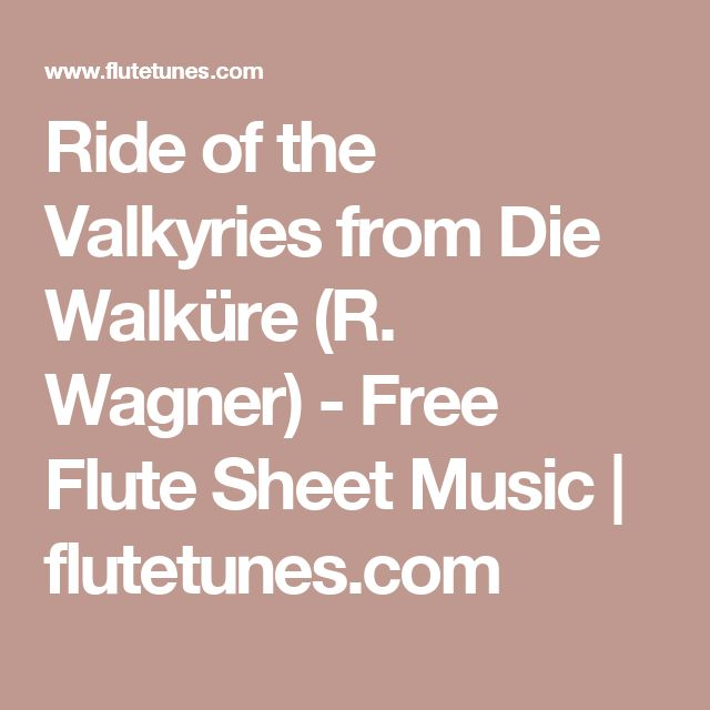 ride of the valkyries piano sheet music pdf