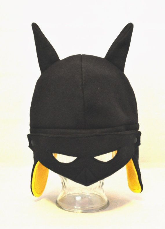 Batman Inspired Fleece Hat - Adult - Child - Toddler