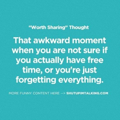That awkward moment......