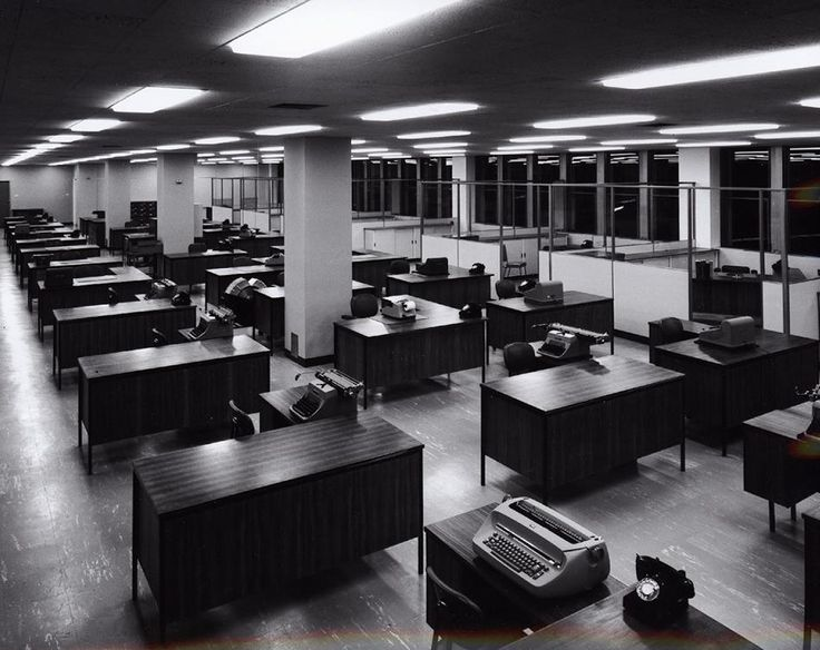 Kodak Australasia Pty Ltd, Secretarial Typing Pool Area, Building 8, Head Office & Sales & Marketing, Kodak Factory, Coburg-Melbourne, Australia 1964.  Photograph by Wolfgang Sievers.