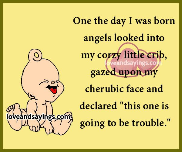One the day I wash Born angels