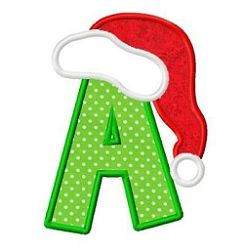 Santa Hat Applique Letters - 3 Sizes!   What's New   Machine Embroidery Designs   SWAKembroidery.com Fun Stitch