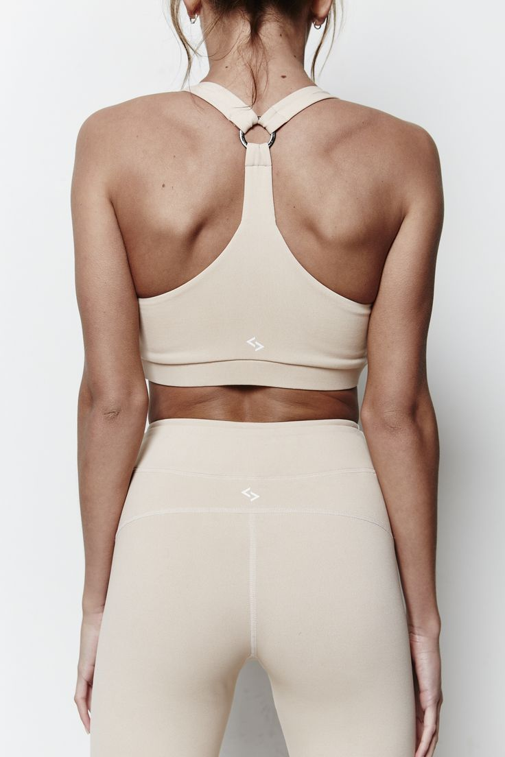 The Tri Bra in Nude from ADANOLA. #activewear #adanola #gymwear #womenswear…