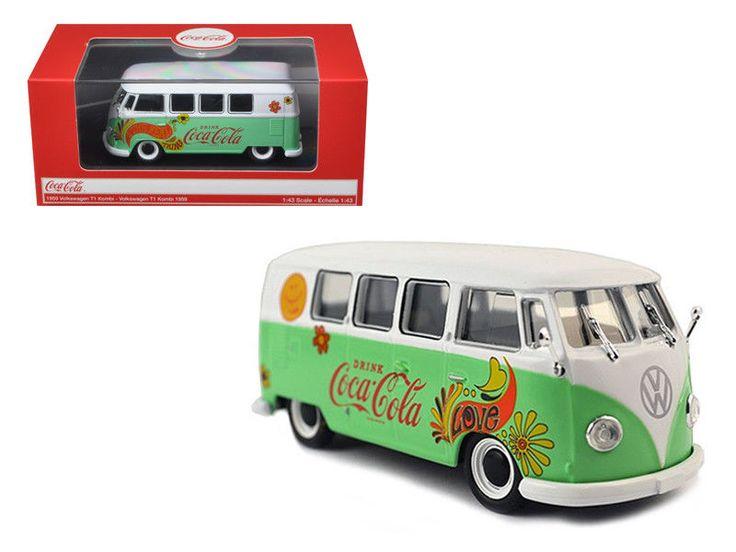 1959 Volkswagen T1 Samba Bus Coca Cola Flowers Version 1/43 -NEW #Volkswagen