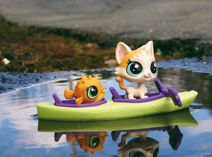 Why is the FISH in the BOAT and not in the WATER? If fact why the heck would it get into a boat with a CAT? I love Littlest Pet Shops, don't you?