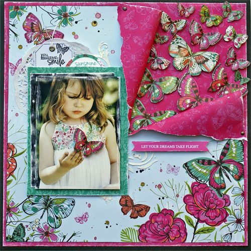 """""""Let Your Dreams Take Flight"""" (view 1) with Sonia Thomason for Kaisercraft Official Blog using Kaisercraft Product 'Fly Free' Collection. - Wendy Schultz ~ Scrapbook Pages 3."""