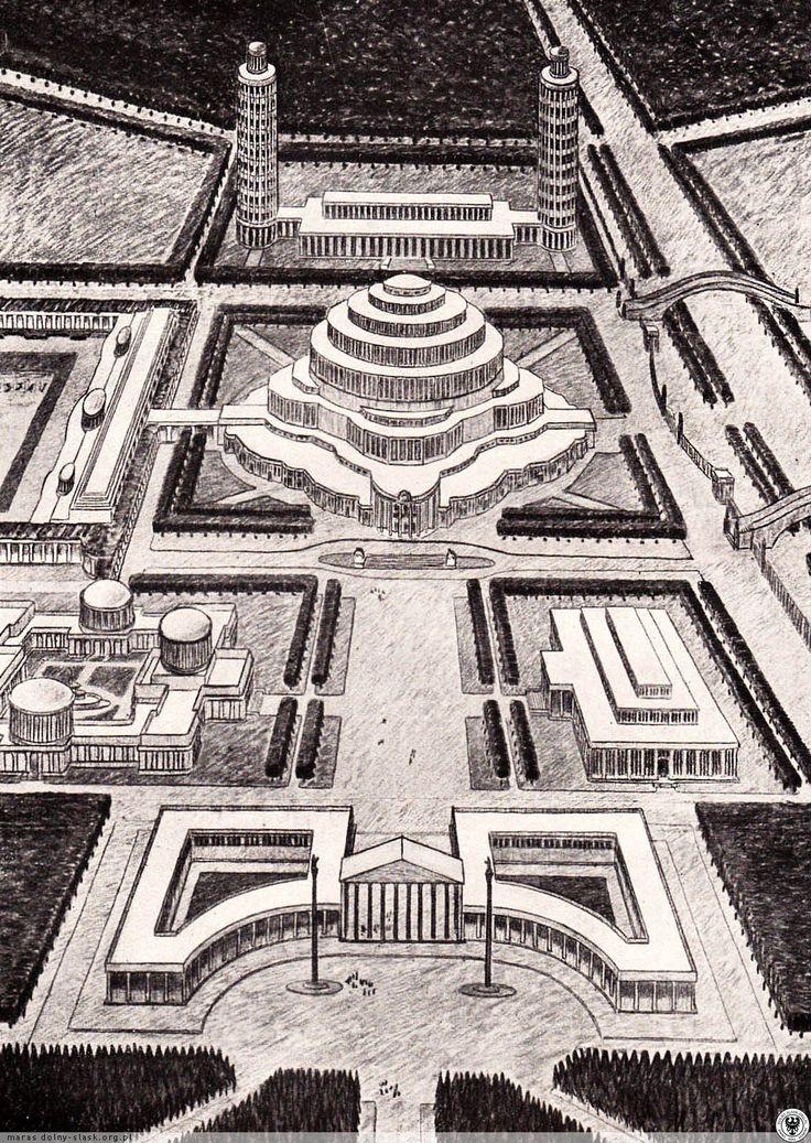 Niezrealizowany projekt rozbudowy terenów wystawowych - Hala Stulecia