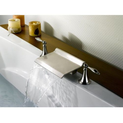 Modern Waterfall Roman Tub Faucet Tap in Brushed Nickel Finished Free  Shipping  BathtubFaucets41 best Roman Tub Faucet images on Pinterest   Bathtub faucets  . Waterfall Roman Tub Faucet Brushed Nickel. Home Design Ideas