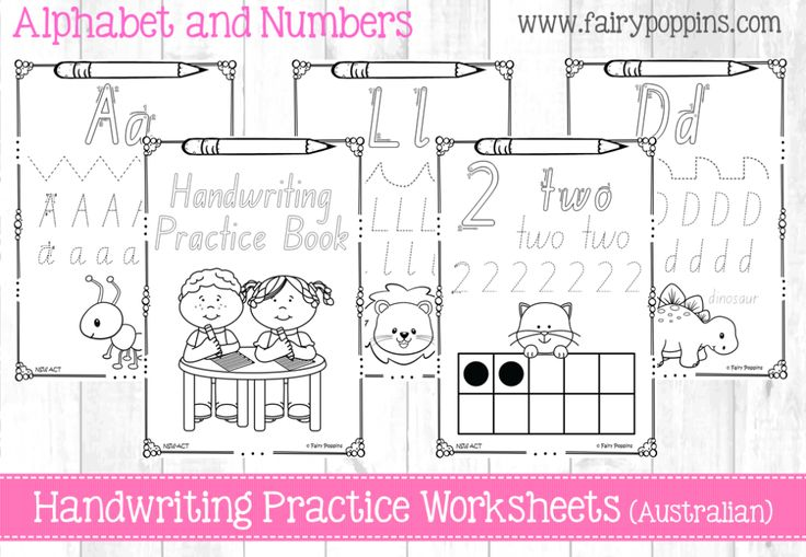 Handwriting worksheets in all Australian school fonts such as Victorian Modern Cursive, New South Wales Foundation font, Tasmanian etc. Includes number worksheets and all can be made into a handwriting practice book. http://www.fairypoppins.com/handwritingresources