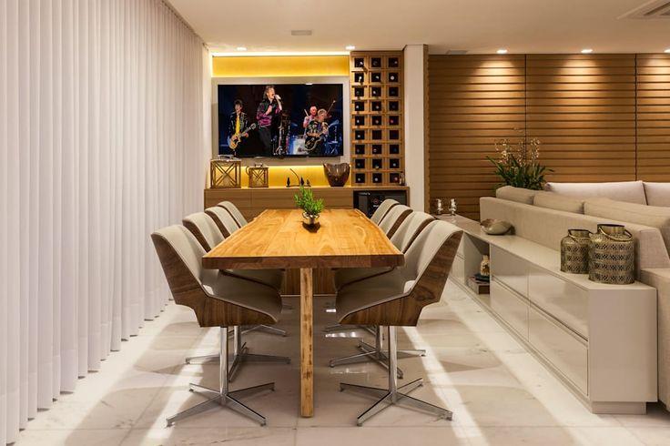 Estar e jantar: salas de jantar por projetos domésticos,   – ideias decoração de apartamento