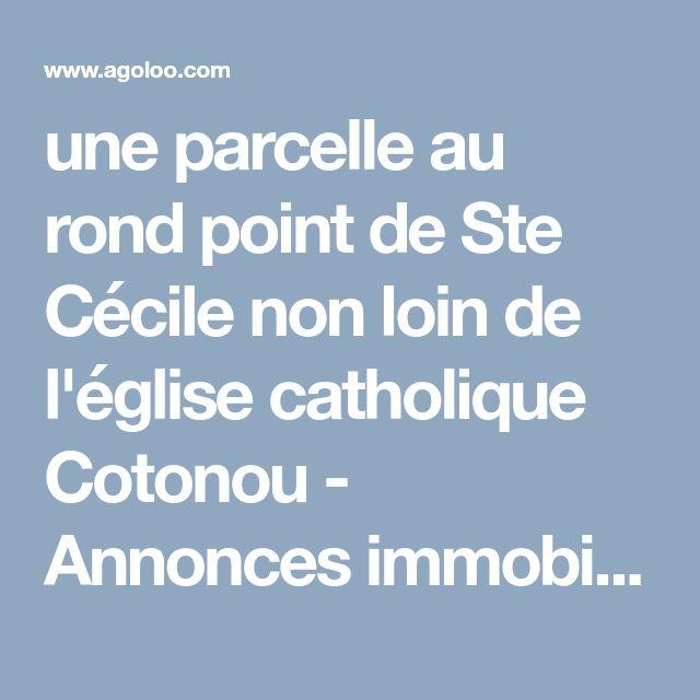 une parcelle au rond point de Ste Cécile non loin de l'église catholique Cotonou - Annonces immobilières 100% gratuites au bénin