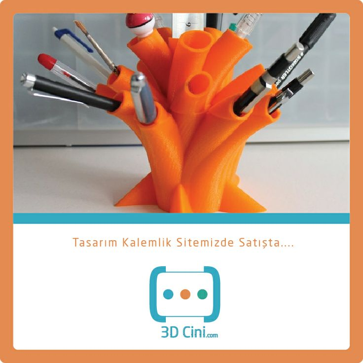 3D Baskı İle Üretilmiş Tasarım Renkli Kalemlik... www.3dcini.com #3DPrinter #3DYazıcı #3Dprinting #3DCini