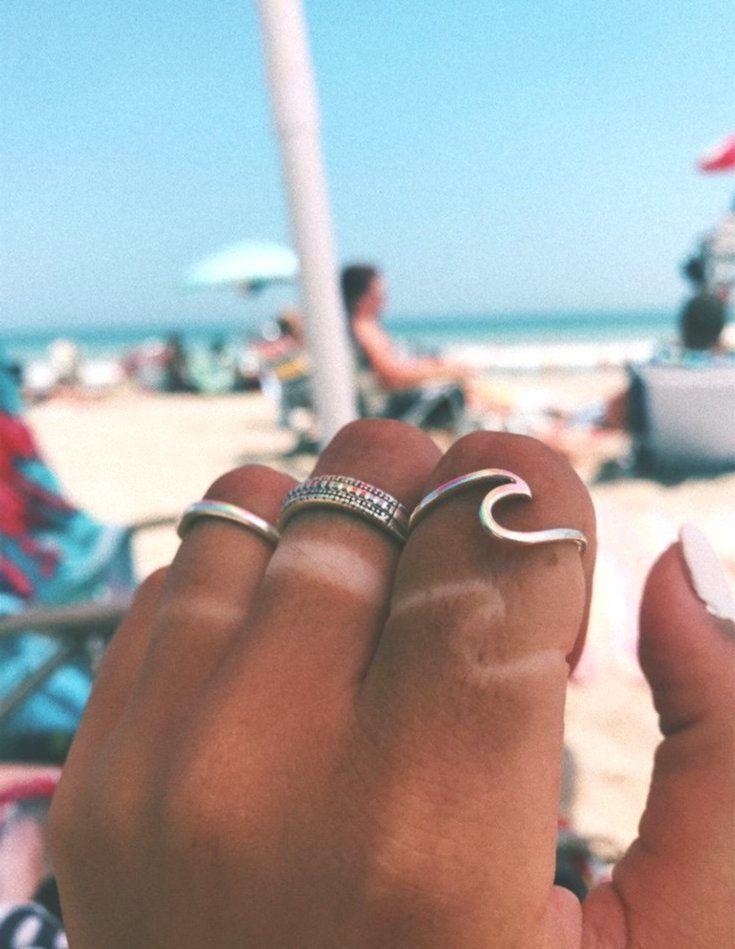 Niedlicher Modeschmuck mit einfachem Surf Wave Dainty Ring für Teenager Boho Da... #frisyrer #Frisuren #nouvellecoiffure #hairstyle