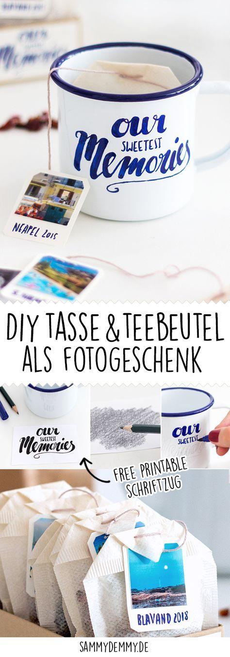 DIY Tasse und Teebeutel als Foto-Geschenk