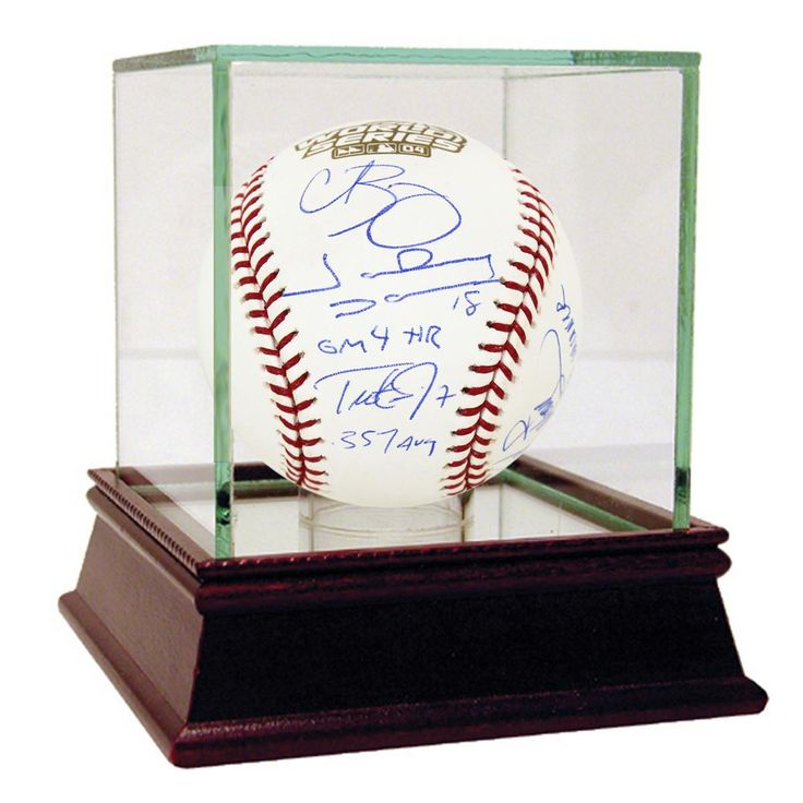 Curt SchillingJohnny Damon (GM 4 HR)Trot Nixon (.357 Avg)Jason Varitek (04 WS Champs)Pedro Martinez (Game 3 Winner) Multi Signed