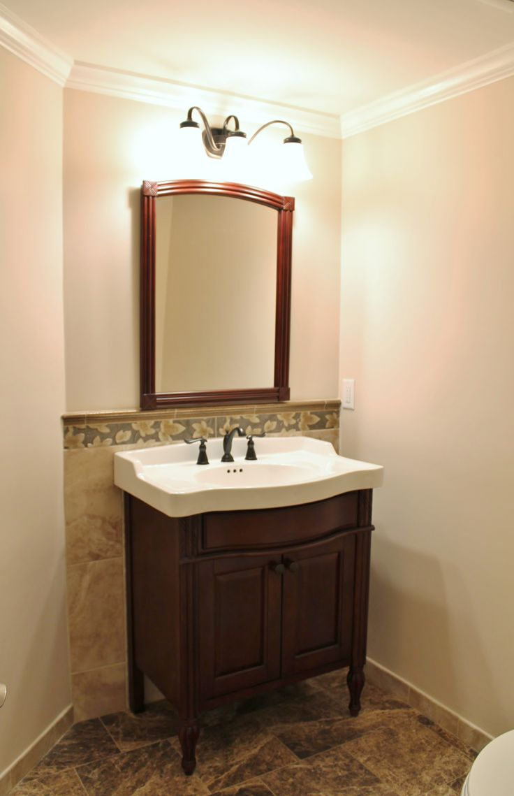 Powder Room by CWI Builders
